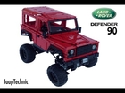 Lego Land-Rover Defender 90 on 9398 Chassis Trailer HD