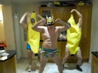 WWE Harlem Shake Banana Boys and SinCara Shirt Ripping Original Cut (Funny boys having fun)