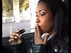Sheila 2 - Sweet Leathergirl Smoking in a Car