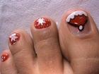Cute Santa Toes - Christmas Nail Art Tutorial - Easy Nail Polish Designs for toes Nails Feet nails