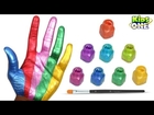 Learn Colors with Hand Body Painting   Body Paint Learning Colors for Children
